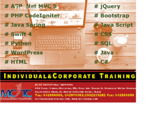 Choose Your Career as Web Development, Earn more! MCTC Dubai